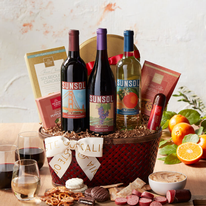 This bountiful gift filled with Hickory Farms favorites and delicious California flavors is the perfect way to celebrate a special occasion.