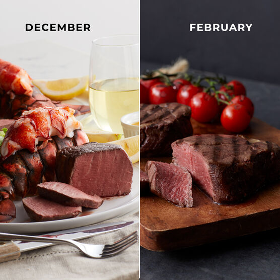 Alternate View of Grand Steakhouse Favorites - 6 Month Plan - Steak & Lobster