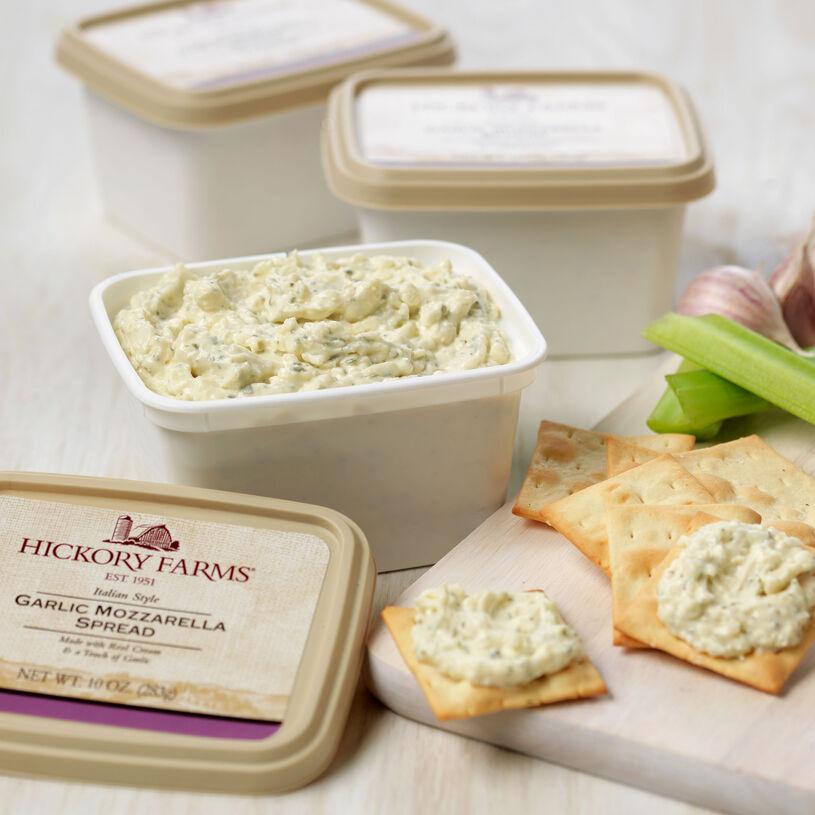 3 10 oz. containers of garlic mozzarella cheese spread