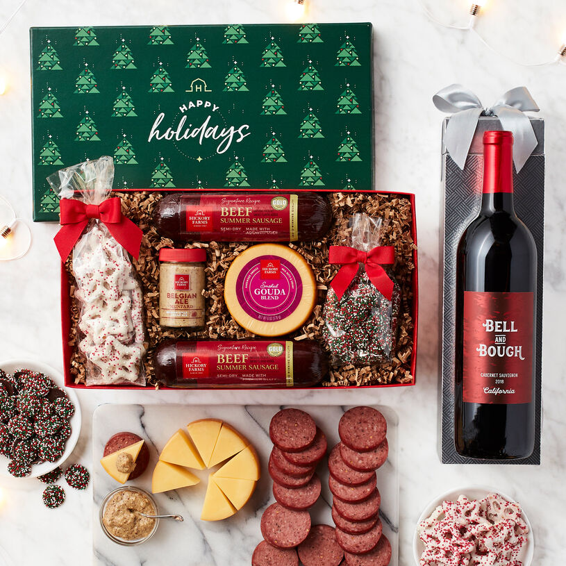 Happy Holiday Flavors & Wine Gift Set