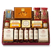 All Day Celebration Gift Box includes sausage, cheese, mints, mustard, and crackers