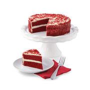 Alternate view of velvety, smooth red velvet cake