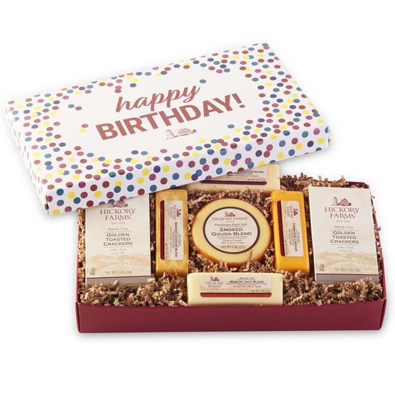 Hickory Farms Birthday Confetti Cheese Sampler