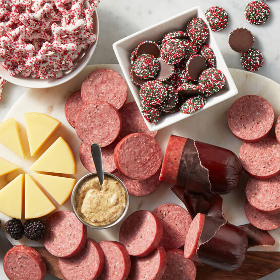 Happy Holiday Flavors Gift Box Charcuterie Spread