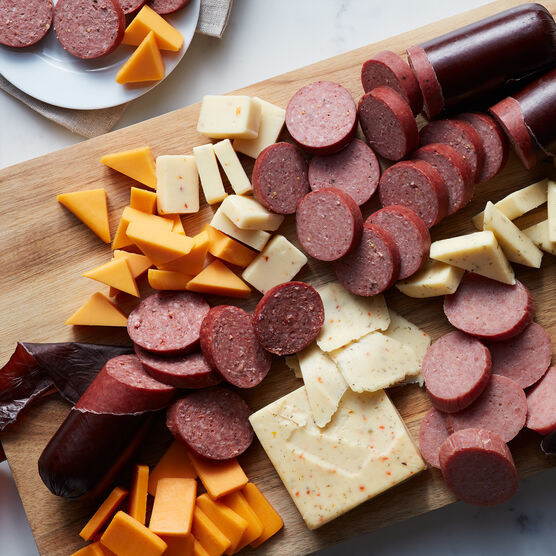 Alternate view of Fall Cheese & Sausage Lover's Gift Box