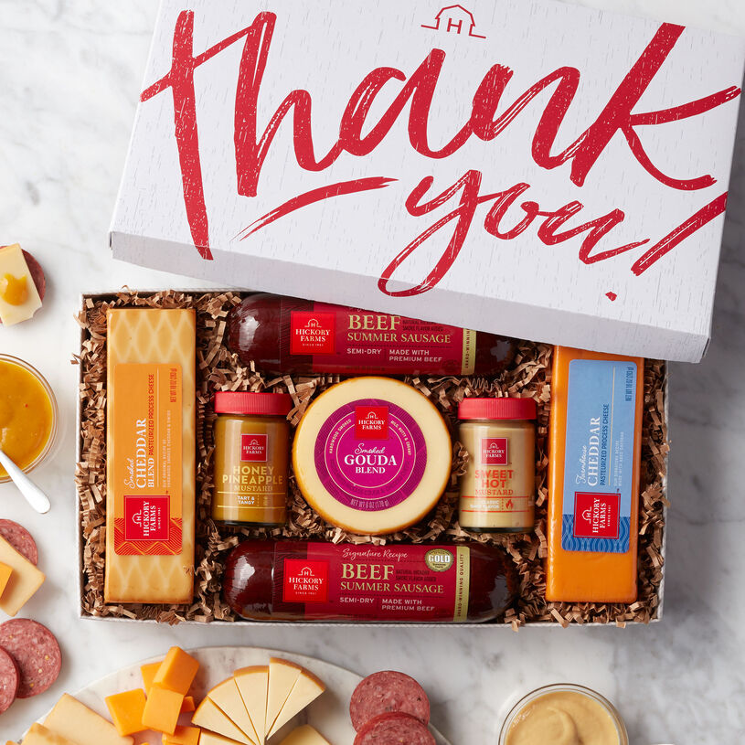 Thank You Summer Sausage & Cheese Gift Box