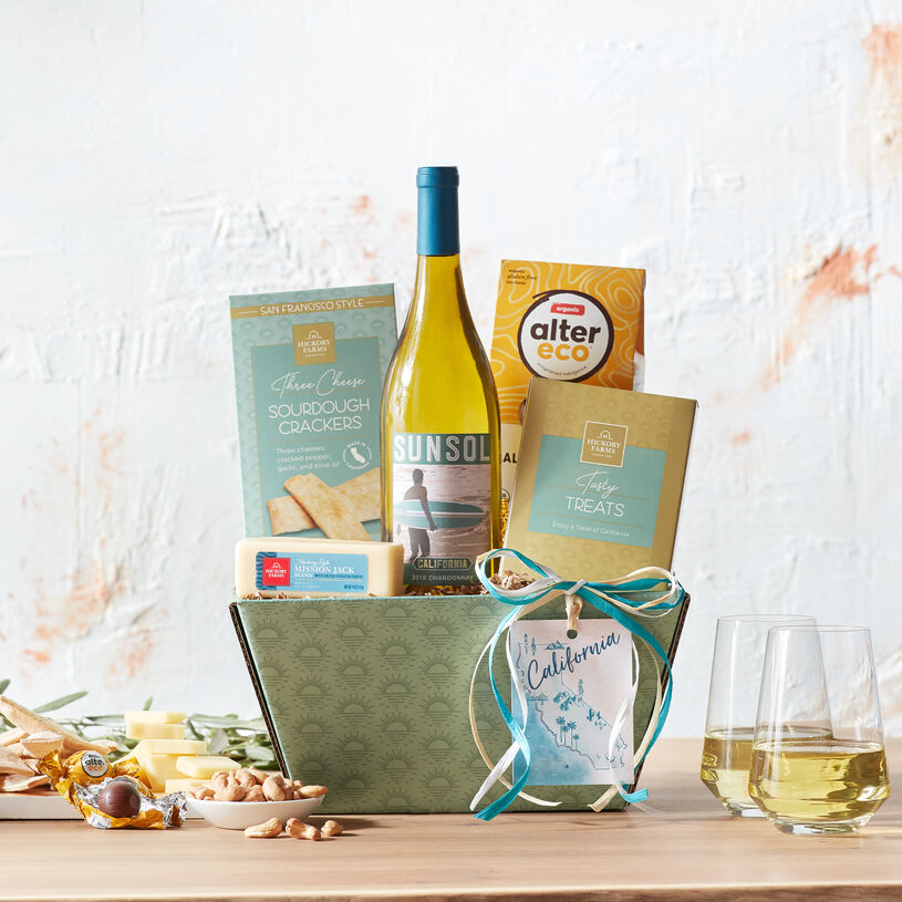 Send a taste of the West Coast in this delicious sampling of expertly paired California flavors.