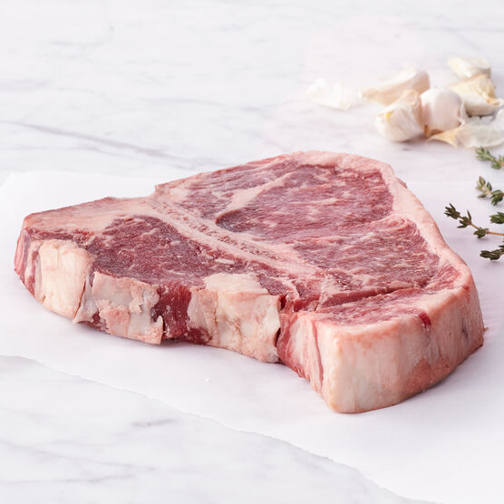 Alternate View of 16 oz Premium Porterhouse Steaks - Ships frozen and raw