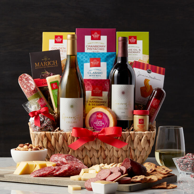 This generous gift basket is overflowing with sweet and savory flavors to create plenty of delicious bites.