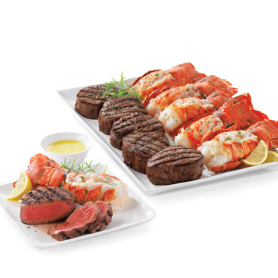 Surf & Turf for two includes an indulgent combination of steak and lobster
