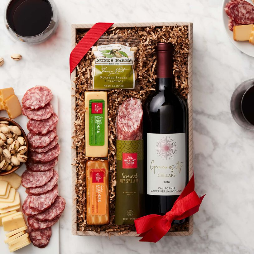 Gluten Free Wine & Savory Snack Collection