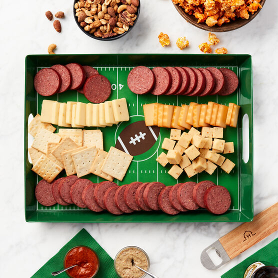 Game Day Entertaining Gift Set Charcuterie Board