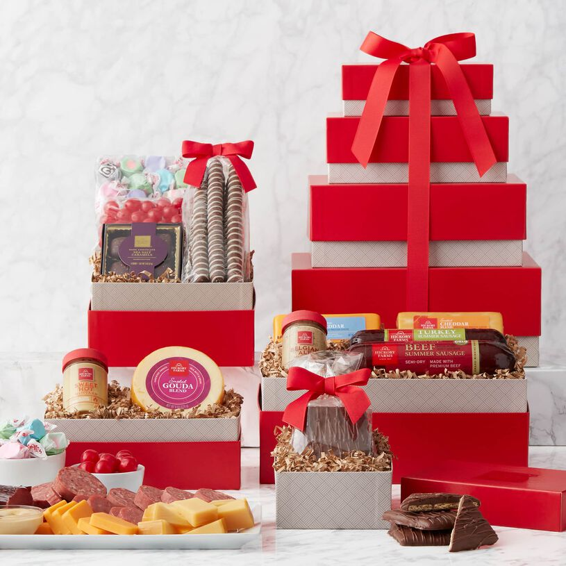 This towering gift is filled with a wonderful mix of flavors. Send as a special way to celebrate with your favorite snack lover.