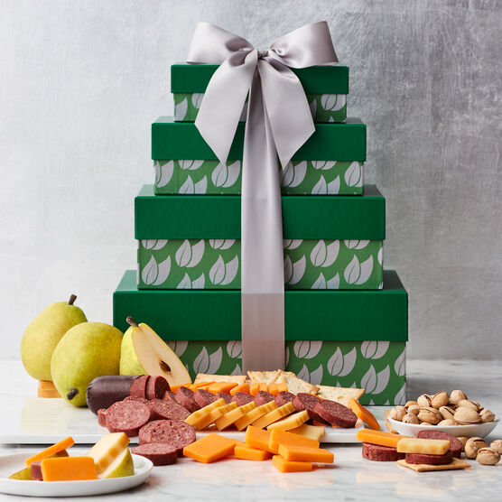 Fruit & Snack Gift Tower Closed Box Presentation