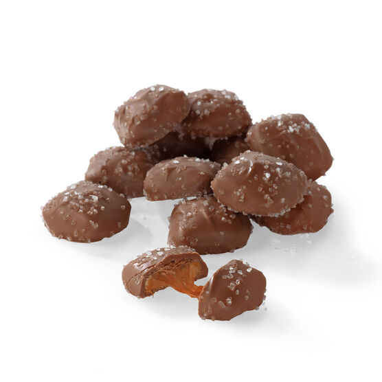 milk chocolate caramels topped with sea salt