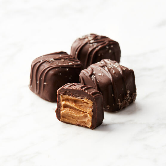 Dark Chocolate Peanut Butter Meltaways Chocolates