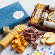 Sausage and Cheese Gift Box with festive Birthday Lid