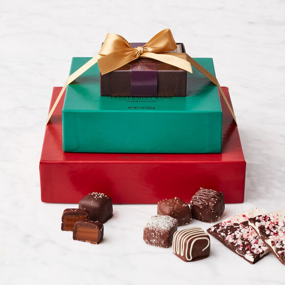 Holiday Chocolates Gift Set Stacked