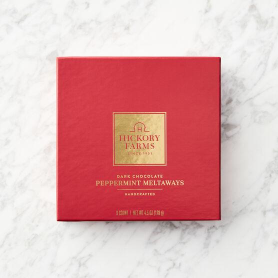 Dark Chocolate Peppermint Meltaways Red Lid