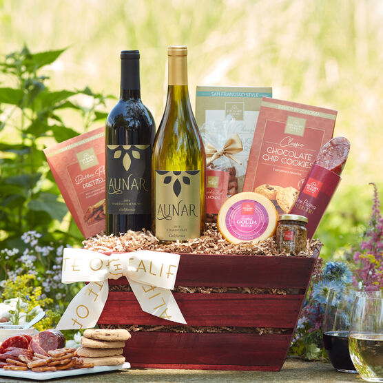 Alternate view of California Getaway Wine Gift Basket