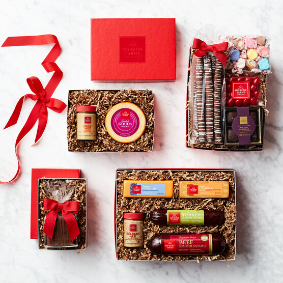 Deluxe Sweet & Savory Gift Tower Box Contents