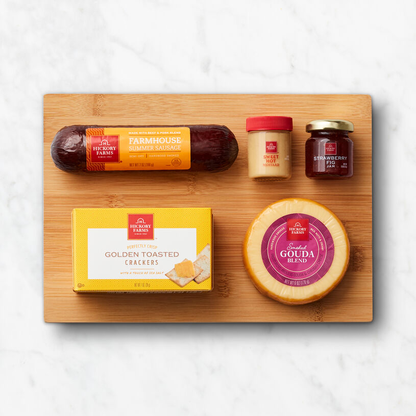Savory Snacks & Board Gift Set Box Contents