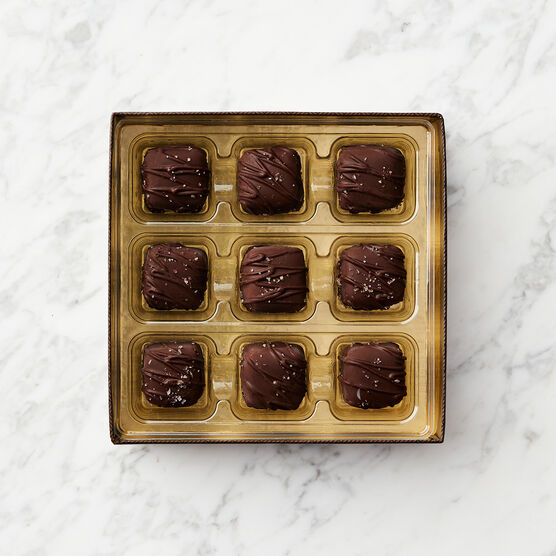 Dark Chocolate Peanut Butter Meltaways Inside Box
