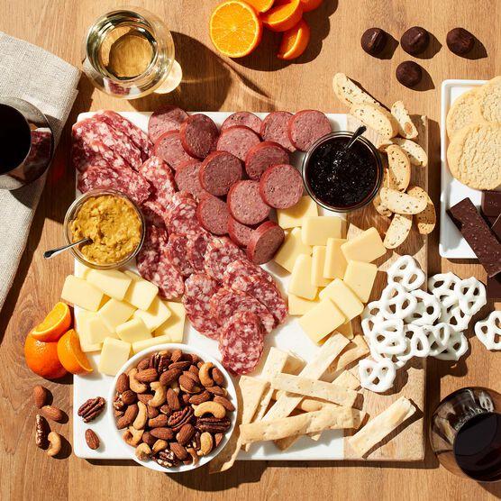 California Comforts Wine Gift Basket Charcuterie