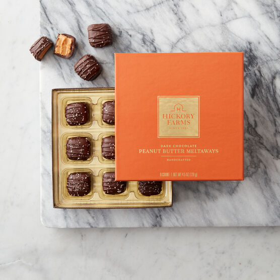 Hickory Farms Dark Chocolate Peanut Butter Meltaways