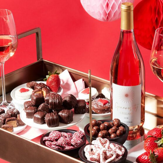 Alternate view of Sweets & Rosé Gift Basket
