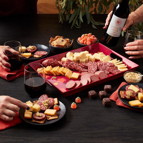 Autumn Entertaining Gift Set with Wine Charcuterie