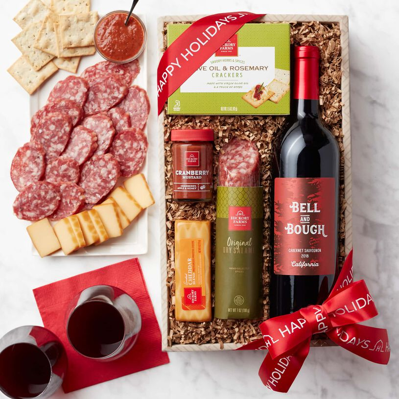 Happy Holidays Wine & Snack Collection