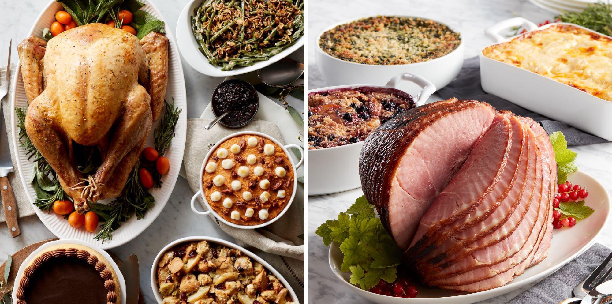 Premium Turkey Dinner and Deluxe Holiday Ham Dinner