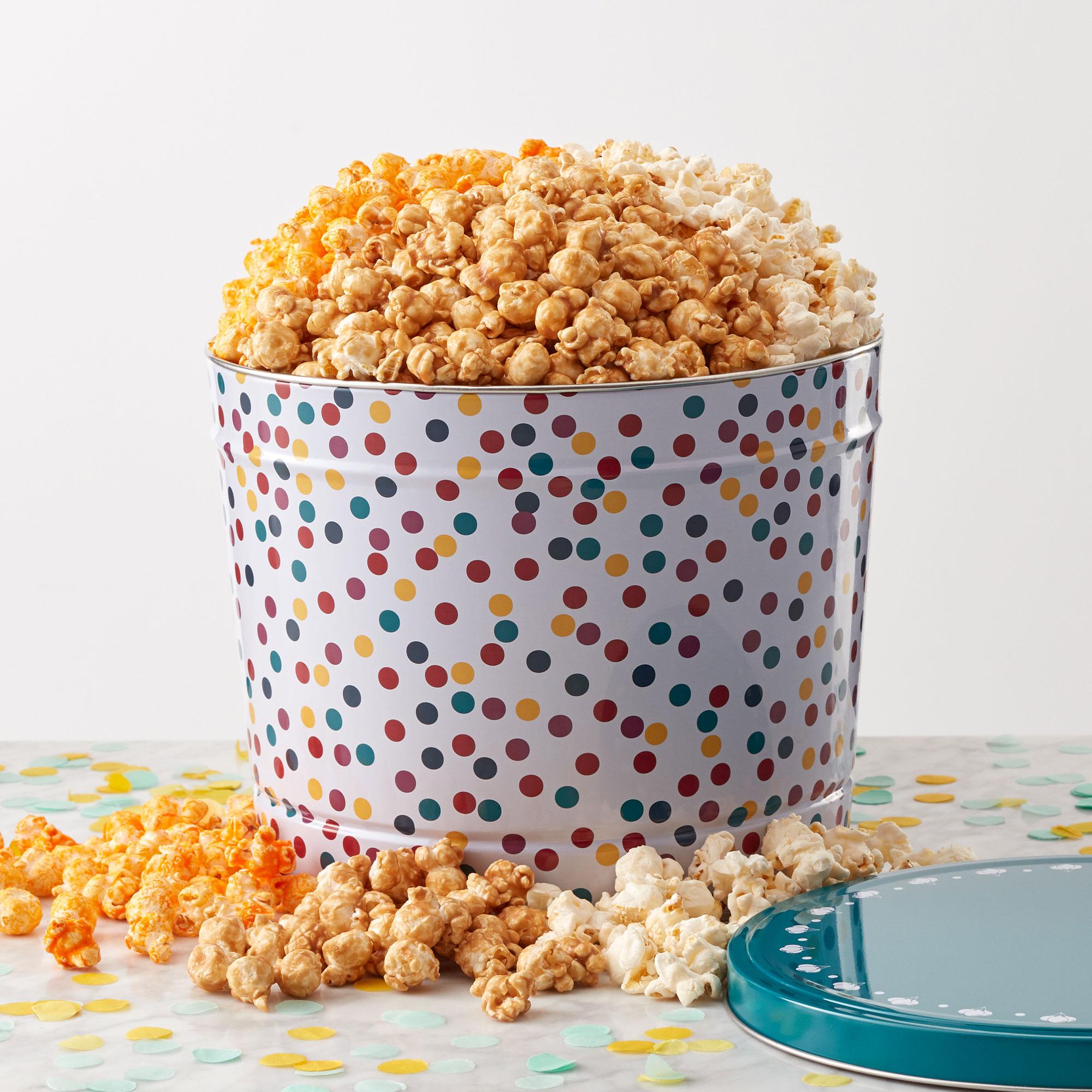Celebration Popcorn Tin