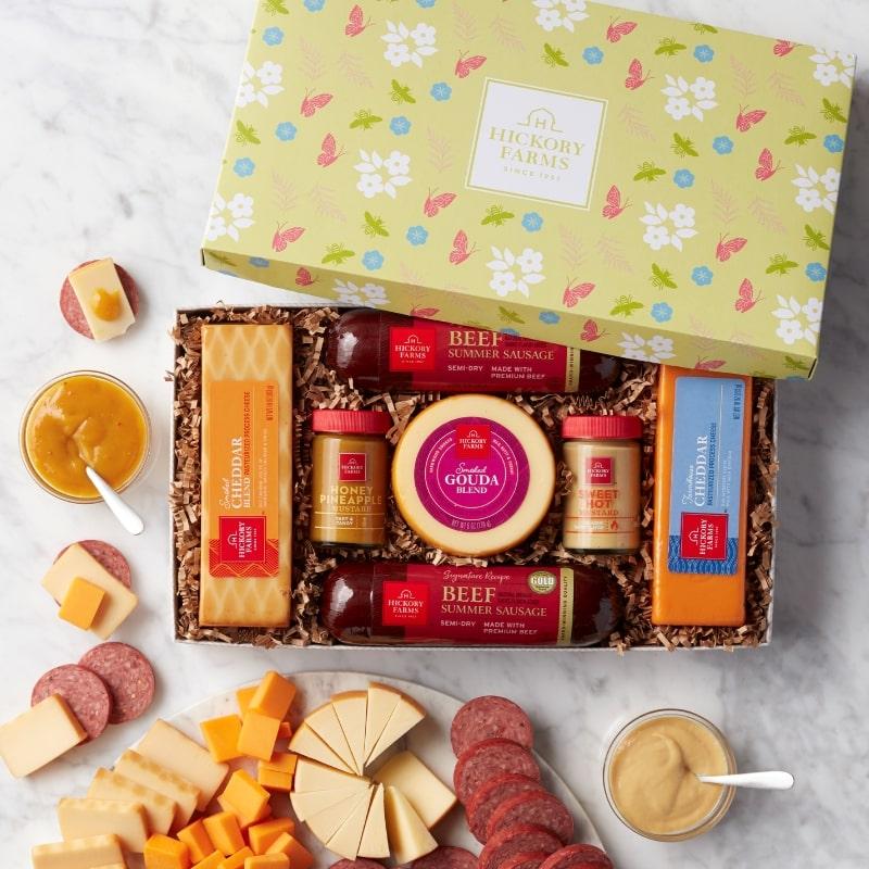 Sunny Summer Sausage & Cheese Gift Box