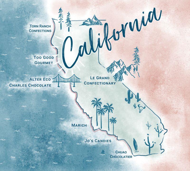 Journey Through California - Map