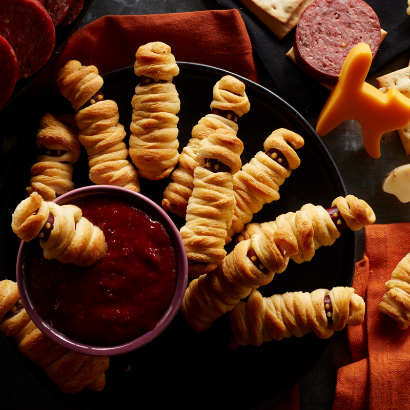 halloween recipes sausage mummies