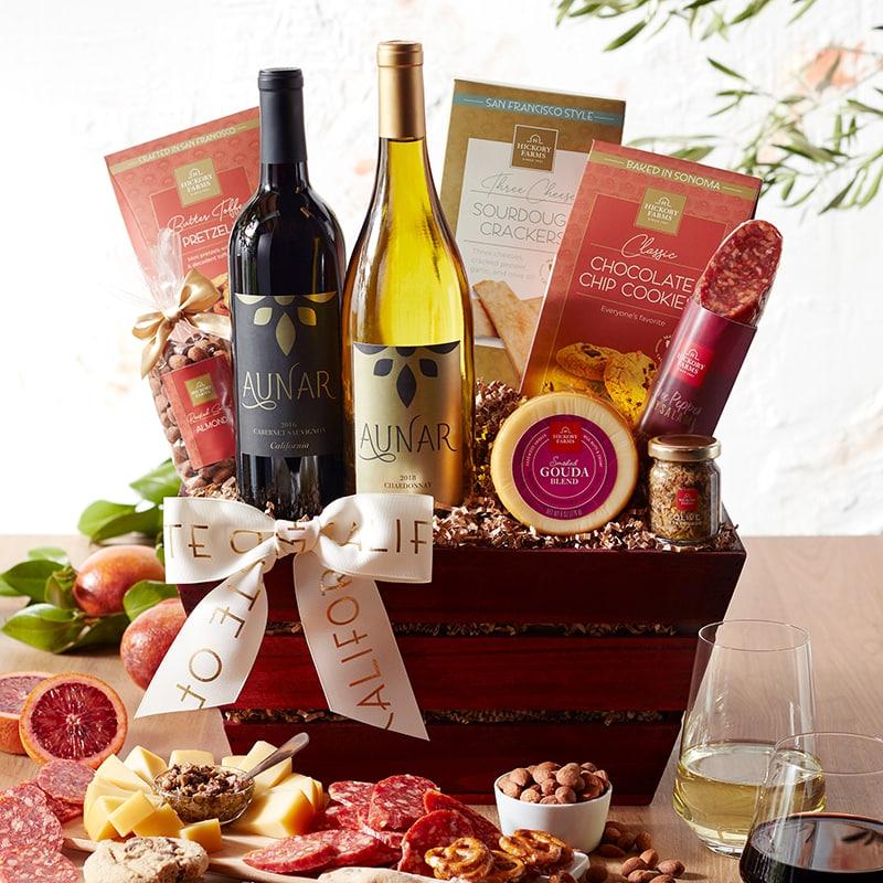 Taste of California Gift Ideas - California Getaway Wine Gift Basket