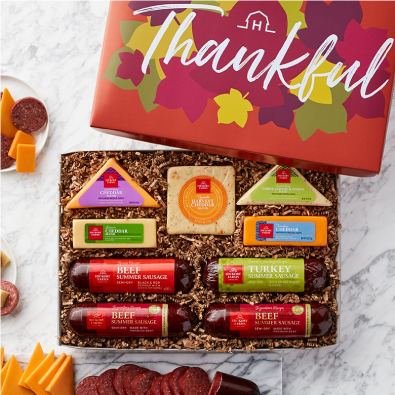 Fall Cheese & Sausage Lover's Gift Box