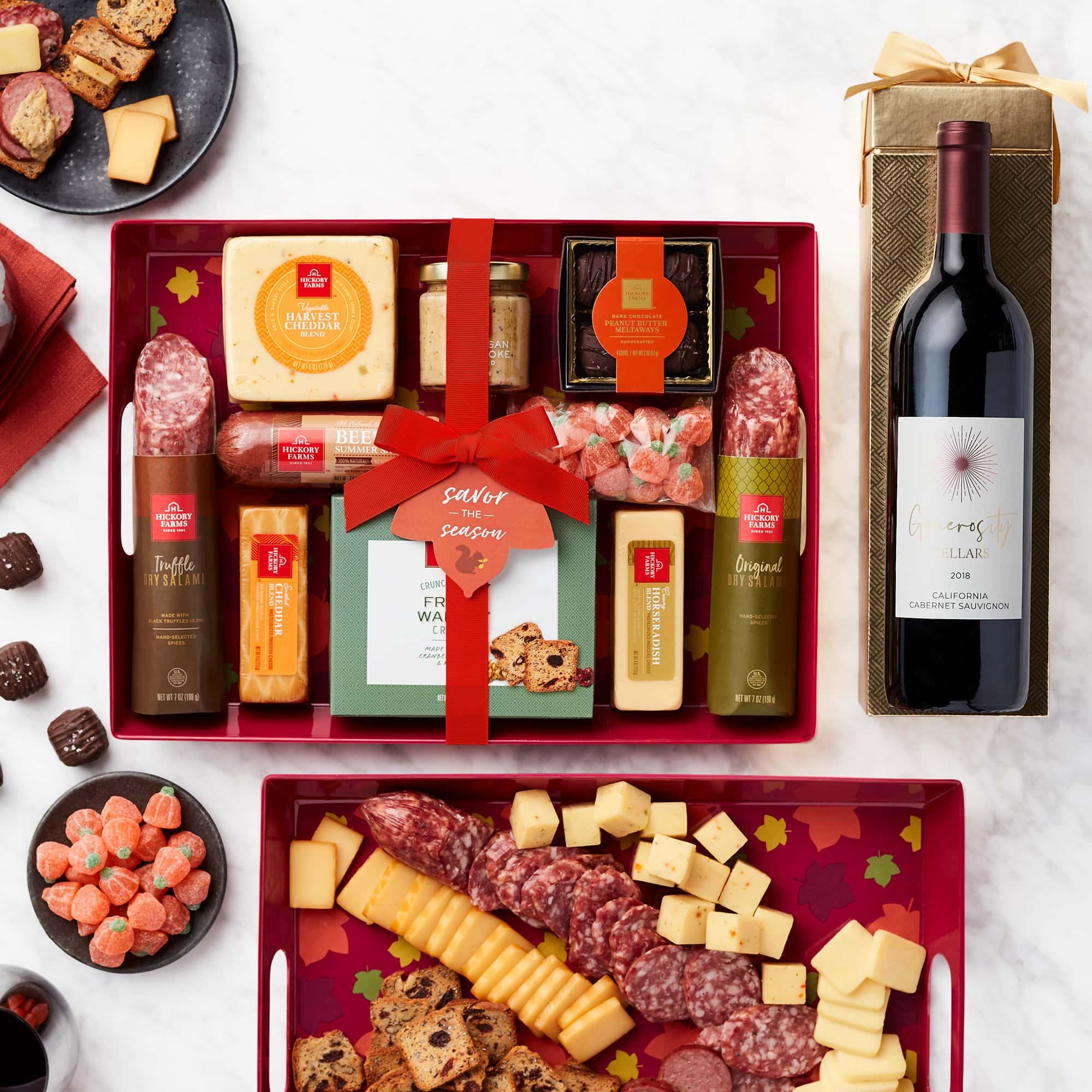 Autumn Entertaining Gift Set with Wine