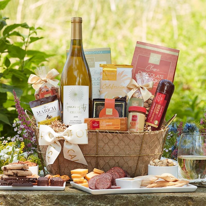 Taste of California Gift Ideas - California Gourmet Wine Gift Basket