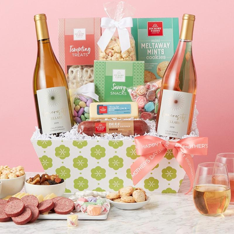 Mother's Day Premium Treats & Wine Gift Basket