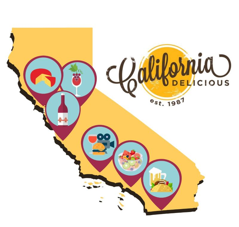 California Delicious Map - 8 of California's Most Flavorful Cities