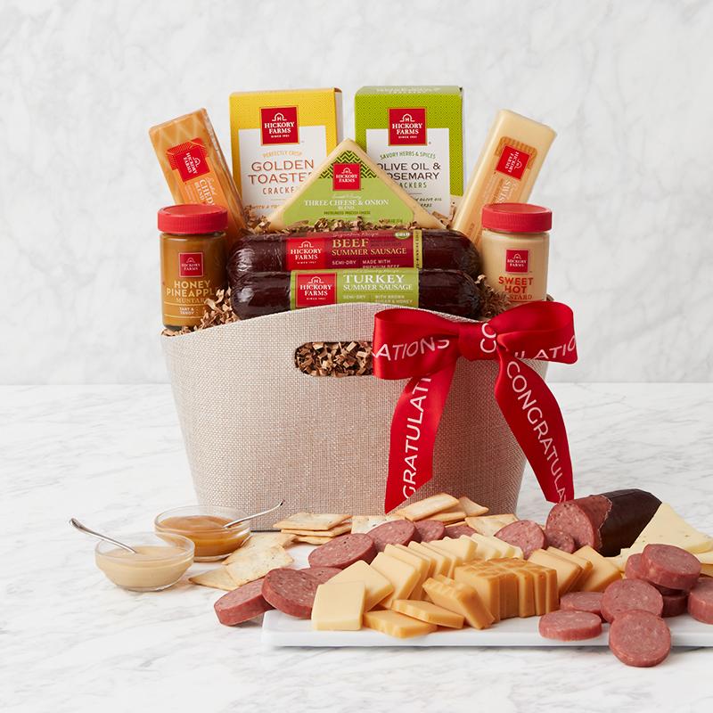 Congratulations Signature Bites Gift Basketx