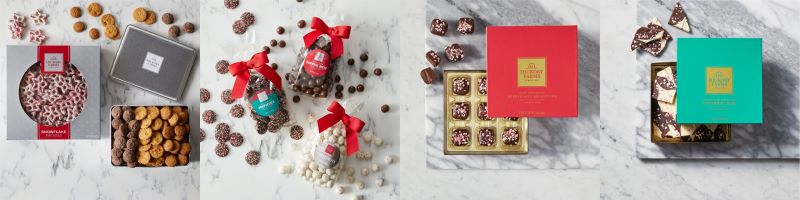 Hot Cocoa Bar - Snowflake Pretzels, Festive Cookies, Dark Chocolate Peppermint Meltaways, White & Dark Chocolate Peppermint Bark