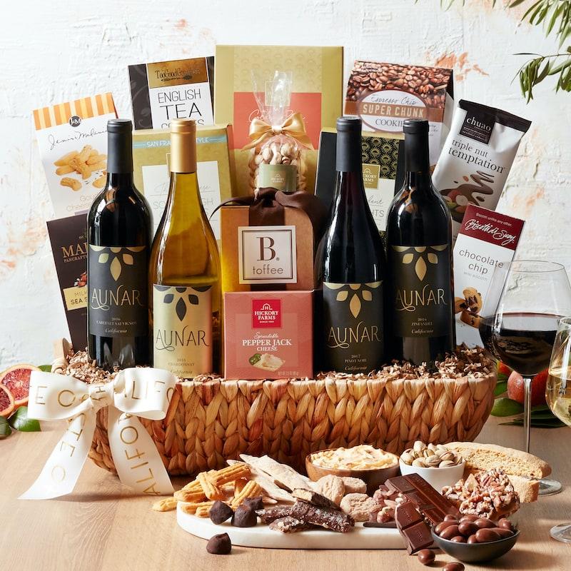 Taste of California Gift Ideas - Ultimate California Gourmet Wine Gift Basket