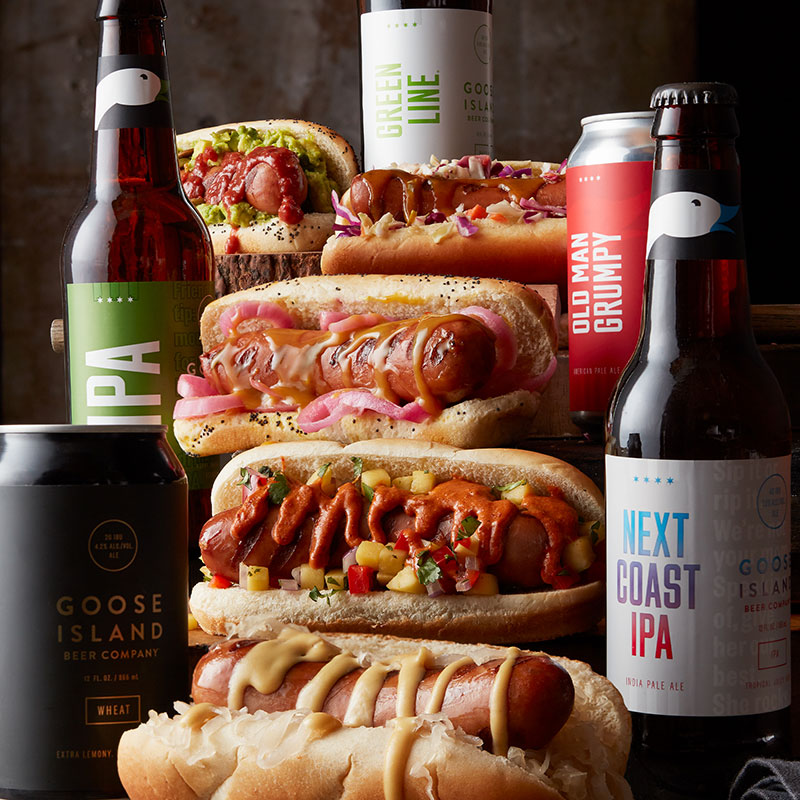 hot dogs and beers