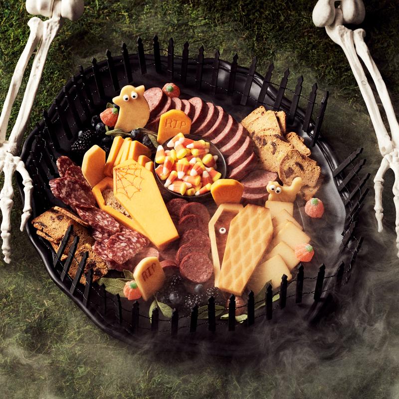 Halloween Movie Streaming & Snacking Graveyard Charcuterie
