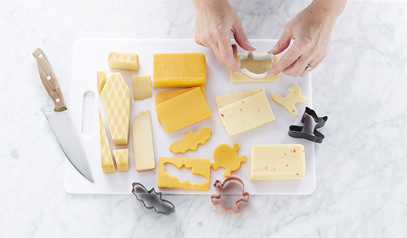 halloween appetizers cheese cutouts