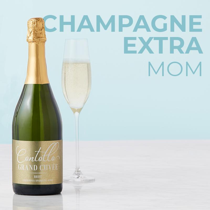 Champagne Extra Mom - Contollo Grand Cuvée California Sparkling Wine